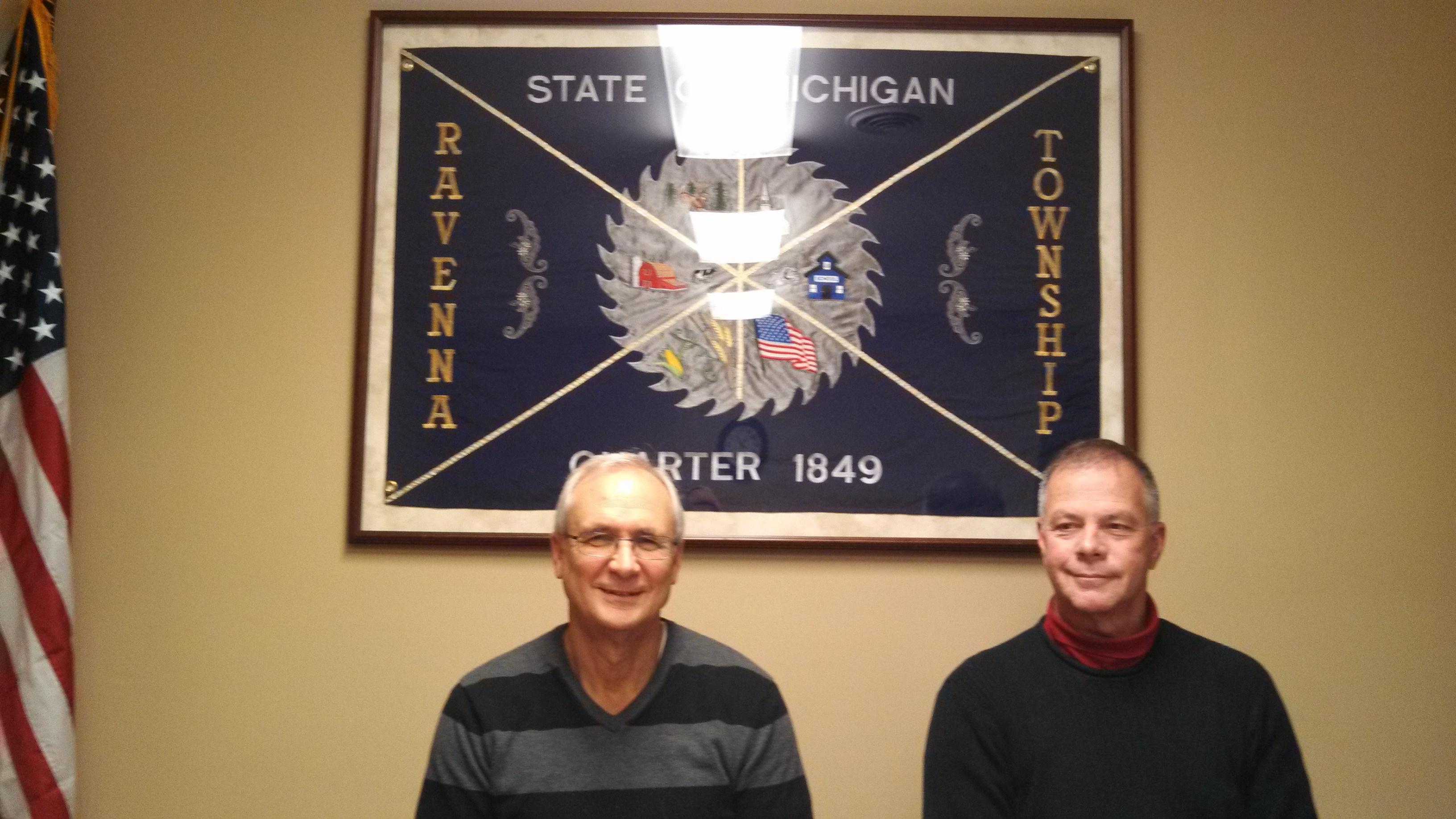 Ravenna Township Assessors Dennis Burns & Jerry Groenveld